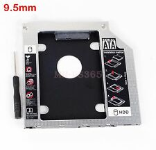 2nd Hard Drive HDD Caddy 9.5mm SATA to SATA for ACER/ASUS/DELL/TOSHIBA Laptops