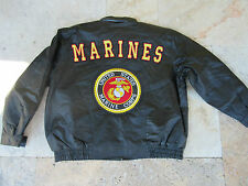 Esercito USMC US Marines Giacca Di Pelle Corps Insegne Toppa in Gr XL