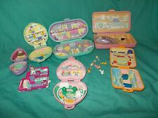 LOT of Vintage Polly Pocket Bluebird Compacts Plastic Toy Sets Figures
