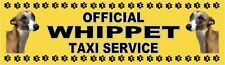 WHIPPET OFFICIAL TAXI SERVICE Dog Car Sticker  By Starprint