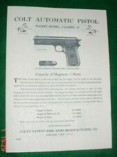 Colt Pocket Model .38 Auto Manual