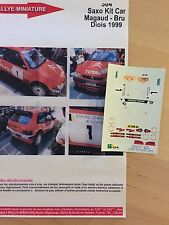 DECALS 1/43 CITROEN SAXO KIT-CAR PATRICK MAGAUD RALLYE TERRE DU DIOIS 1999 RALLY