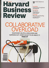HARVARD BUSINESS REVIEW MAGAZINE JANUARY/FEBRUARY 2016, COLLABORATIVE OVERLOAD.