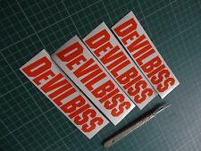 4x Devilbiss Wall Decal Spray Gun Paint Booth Stickers Work Shop Body
