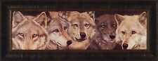 UNITY by Judi Rideout 14x34 Wolves Wolf Faces Wildlife FRAMED PRINT PICTURE