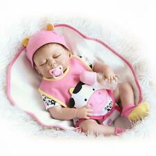 "Full Silicone Reborn Baby Doll That Look Real Anatomically Correct 23"" Washable"