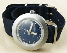Ruhla Round Brushed Cased Mechanical Watch 41mm New Old Stock