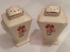 Art Deco Floral Design Salt And Pepper Shakers