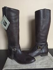 NWT FRYE Women's SZ 11 Melissa Knotted Tall Brown Riding Boots