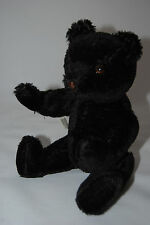 HERMANN BLACK TEDDY BEAR; JOINTED; MINT -- Price reduced!