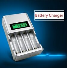 Hour SUPER FAST LCD AA or AAA Mains Battery Charger NiMh or NiCad