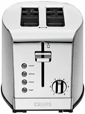 KRUPS KH732D Breakfast Set 2-Slice Toaster with Brushed and Chrome Stainless S