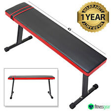 Abdominal Ab Bench Crunch Sit Up Training Gym Weight Flat Board Fitness Workout