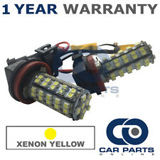2X CANBUS XENON YELLOW H8 60 SMD LED FOG LIGHT BULBS FOR SKODA OCTAVIA ROOMSTER