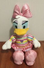 "Disney Daisy Duck Plush 11"" Just Play EUC"