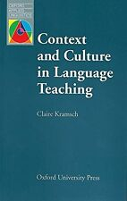 USED (GD) Context and Culture in Language Teaching (Oxford Applied Linguistics)