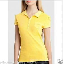 GUESS Jody Polo Shirt Pop Color Top Yellow Size XS