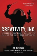 NEW! Creativity, Inc. Overcoming the Unseen Forces Ed Catmull Hardcover - Pixar
