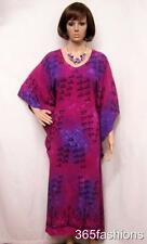 PLUS SIZE TRIBAL FISH PRINT KAFTAN MAXI DRESS PINK 18 20 22 24 26 28 30 32