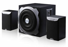 "New F&D A520 2.1 Multimedia Speaker 5000 W PMPO 6.5"" Woofer, Built in AVR"