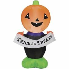 Halloween Inflatable Jack o Lantern Pumpkin Air Blown Yard Decor LED Outdoor New