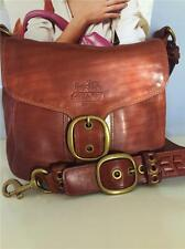 COACH BURNISHED WHISKEY LEATHER TATTERSALL BLEECKER  BAG 11419 $448 RARE!!!!