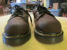 WOMEN'S BROWN LEATHER SHOES SIZE 6 UK 8.5 USA DR MARTENS MADE IN ENGLAND