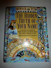 THE HIDDEN TRUTH OF YOUR NAME - NOMENOLOGY PROJECT (PAPERBACK) NEW B207