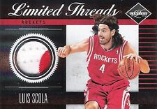 Luis Scola 2011-12 Panini Limited Basketball Threads 2-Color Patch 1/25 Mint
