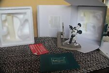 WDCC DISNEY MICKEY DEBUT STEAMBOAT WILLIE 5 YR SCULPTURE CHARTER COA/BOX CLASSIC