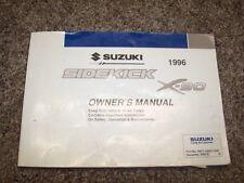 1996 Suzuki Sidekick X-90 Operator User Guide Owner Manual JS JX JLX 1.6L 1.8L
