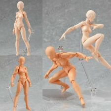 Japanese Anime Figma He & She Flesh Color 2pcs Version Action Figure New In Box