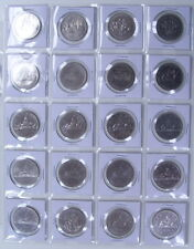 CANADA NICKEL DOLLAR  1968 TO 1986 AU-55 / B.U+ (21PCS)