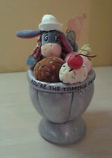 "Authentic Disney Winnie the Pooh Eeyore Sweet Shoppe 10"" Ice Cream Sundae NWT"