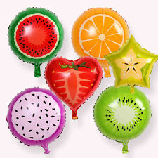 2 Random Summer Fruit Balloons Party Wedding Birthday Aluminium Balloons Decor