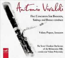 Vivaldi Five Concertos for Bassoon, Strings and Basso Continuo, New Music