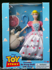 Poseable Bo Peep Doll with Sheep Disney Toy Story Rare Thinkway ~ Excellent Box