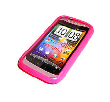 NEW HTC PINK SILICONE RUBBER GEL WILD FIRE S G13 G8S CASE SUPER FAST SHIPPING