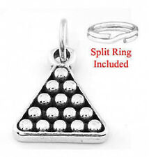 "STERLING SILVER ""RACK OF POOL BALLS"" CHARM W/SPLIT RING"
