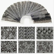 20 Stk/set 4*20cm Lace Nagel Folie Nail Art Holo Stern Transfer Sticker