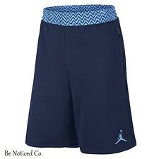 Nike Jordan 12 French Terry Shorts XL Blue Retro Casual Basketball Gym New