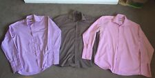 3 X Taylor & Wright Cotton Shirt Tailored 15.5 Collar Double Cuff Easy Iron
