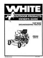 WHITE FR200 Turf Boss Groundskeeping Operators Manual