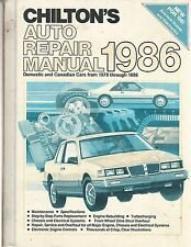 Chilton's Auto Repair Manual 1986 American/Canadian Cars from 1979 to 1986 VG