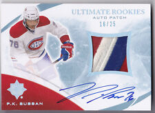 10-11 UD Ultimate P.K. Subban /25 Auto Top Patch Rookie Upper Deck  2010