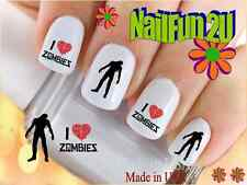 "RTG Set#590 IMAGE ""I Love Zombies"" WaterSlide Decals Nail Art Transfers Salon"