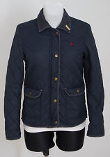 WOMENS JACK WILLS QUILTED JACKET PARKA SLIGHTLY PADDED NAVY SIZE UK 10 VGC