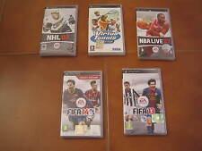 BLOCCO DI 5 GIOCHI PER PSP - FIFA 13-14 NBA LIVE 07 - TENNIS - NHL 07 --