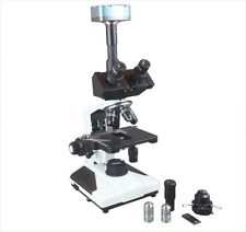 Medical Trinocular Microscope Phase Contrast w 9 Mp Camera & Measuring Software