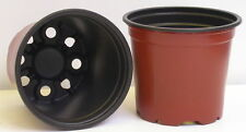 """50 x new round nursery plant flower pots/containers 3,9"""" germination propagation"""